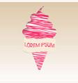 pink ice cream poster vector image