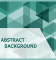 abstract green hexagon template background vector image