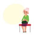 elegant grey haired woman old lady sitting in vector image vector image