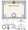 Certificate with design elements vector image