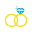 Flat web icon on white background wedding rings vector image