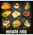 mexican food chalk vector image