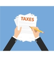 taxes document vector image