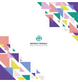 abstract geometric triangle colorful template vector image
