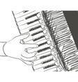 accordeon vector image
