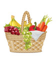 autumn basket vector image