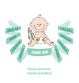 Baby Shower and Arrival Card - Baby Theme vector image
