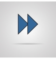 Forward or skip icon with shadow Media player vector image