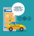 gps navigation online application vector image