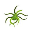 green virus or bacteria molecular biology vector image