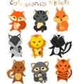 set of cute funny cartoon animals vector image
