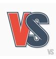versus letters logo vector image