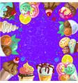 vintage ice cream frame vector image