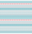Seamless blue and pink tribal pattern vector image