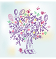 tree ink vector image