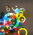 abstract colorful design on grunge background vector image
