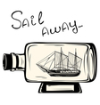 Ship in a bottle vector image