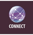 logo connect vector image vector image