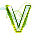 Green letter V vector image vector image