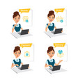 woman buys clothes process of online shopping vector image