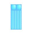 air mattress in light blue design vector image