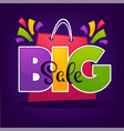 bright big sale background with shopping bags and