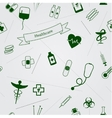Medical icons seamless background vector image vector image