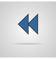 Reverse or rewind icon with shadow Media player vector image