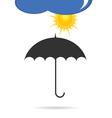 umbrella with sun color vector image