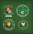 Set of soccer badge labelsemblems vector image vector image