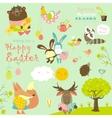 Animals celebrating Easter vector image