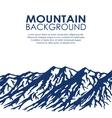Mountain range isolated on white background vector image vector image