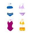 bikini bathing suit swim suit vector image