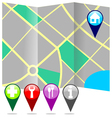 City map with labels vector image