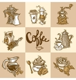 Coffee Decorative Set vector image