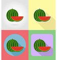 fruits flat icons 12 vector image