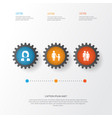 human icons set collection of family vector image