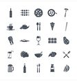 Icon set summer food vector image