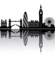 london skyline england city vector image