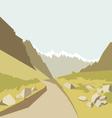 Mountains landscape background vector image