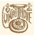 Retro phone Vintage vector image