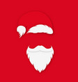santa claus in hat on red background santa claus vector image