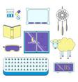 sleep flat icon set vector image