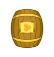 Barrel of honey icon cartoon style vector image