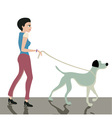 Dog across the street vector image vector image