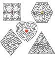 maze collection vector image vector image