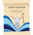 passover invitation on acient card vector image