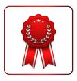 Ribbon award icon red 2 vector image