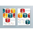 Abstract Brochure Flyer cubes design template vector image