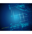 architectural blueprint vector image